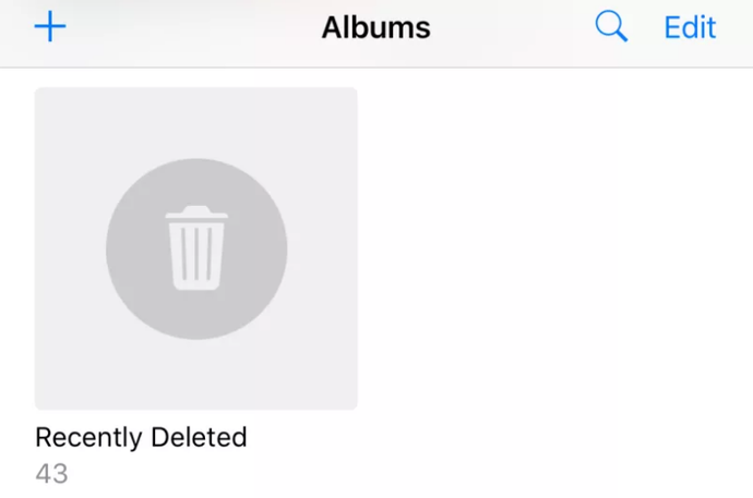 iOS, Deleted Images, Trash Folder, Picture