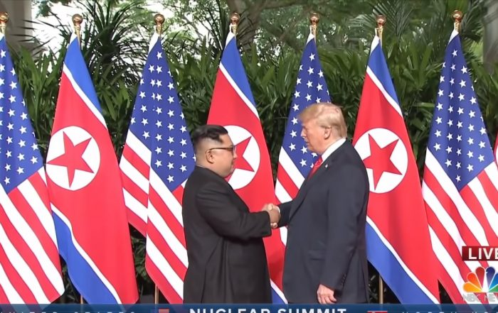 The historical moment meeting between President Donald Trump and North Korean leader Kim Jong Un has finally happened.