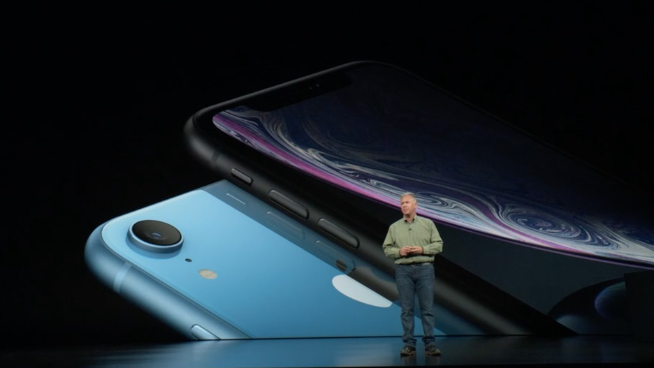 Apple iPhone XR in blue color.