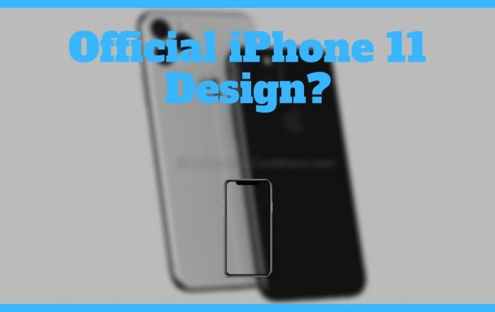 Official Apple iPhone 11 Design