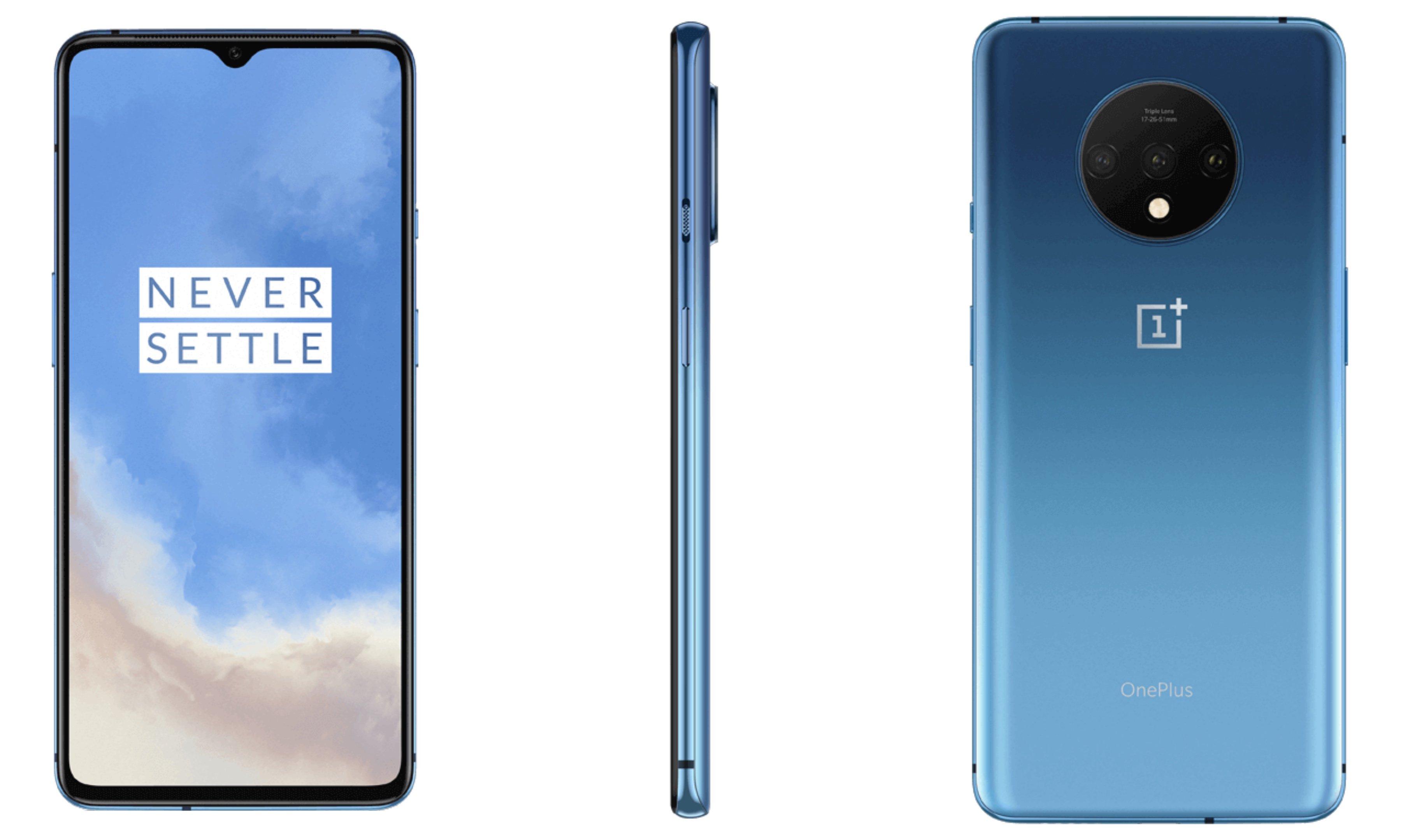 OnePlus 7T in Glacier Blue Color