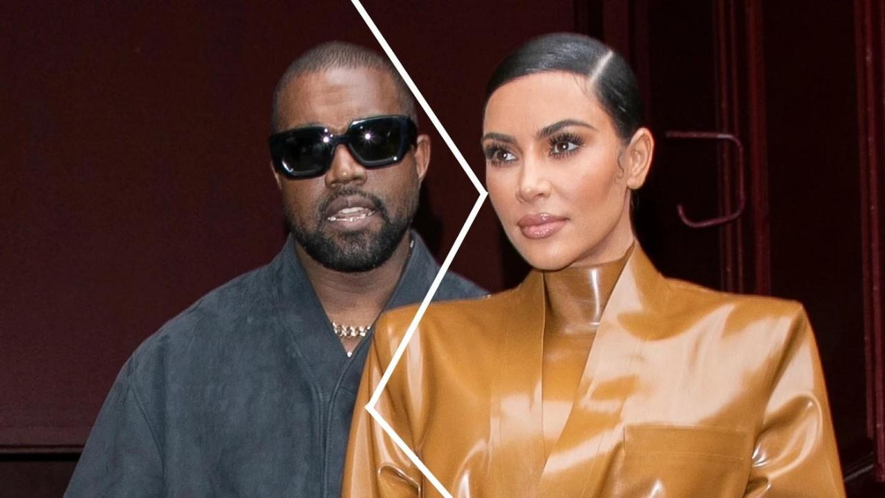 Kim Kardashian and Kanye West Before a Divorce