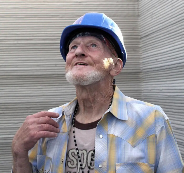 A 70-year-old man is the first American to live in a 3D printed home made for the homeless
