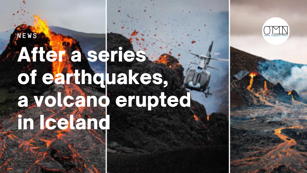 After a series of earthquakes, a volcano erupted in Iceland that was inactive for 6000 years (photo/video)