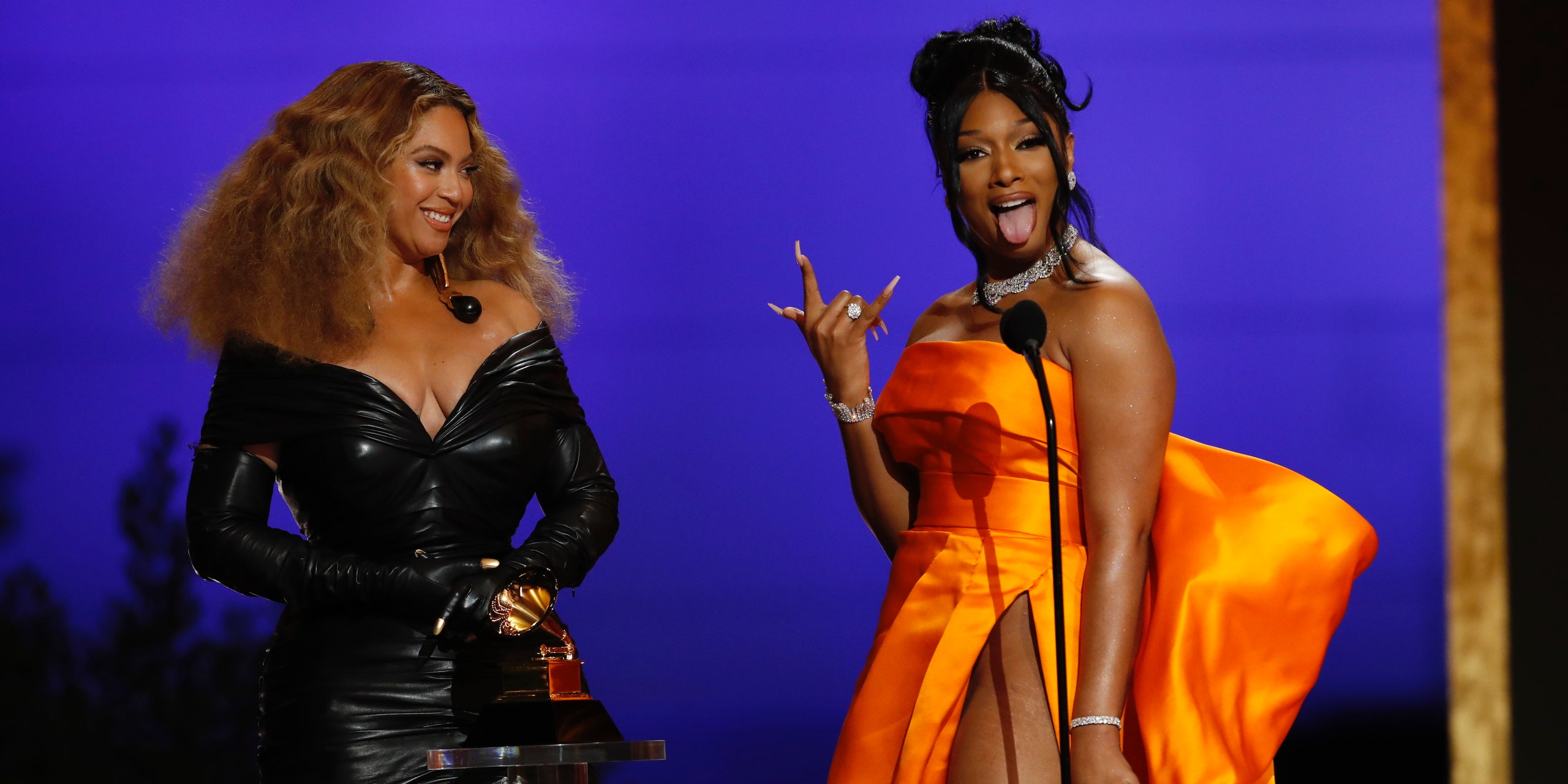 Rapper Megan Thee Stallion and Beyonce