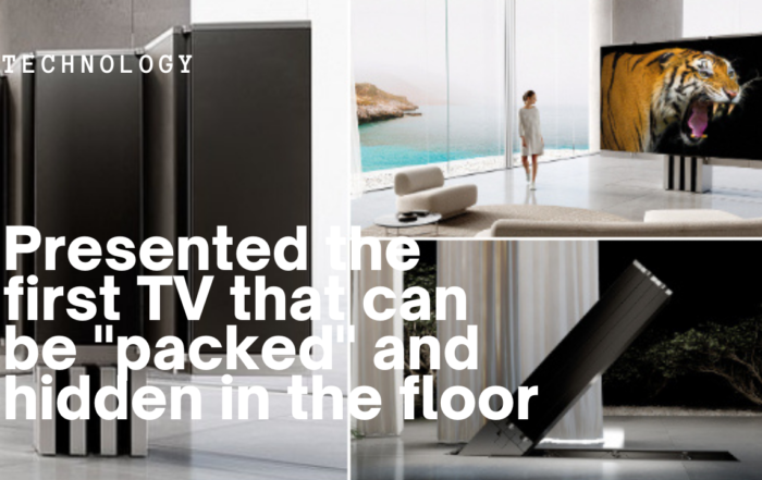 """First foldable TV: Presented the first TV that can be """"packed"""" and hidden in the floor"""