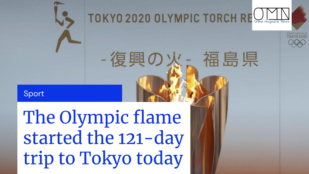 Tokyo Olympics 2021: The Olympic flame started the 121-day trip to Tokyo today