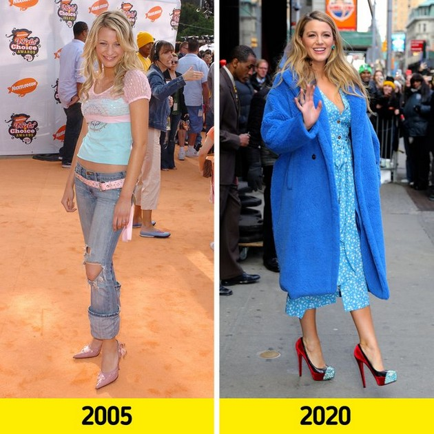 "Blake Lively ""Before and after"" photo comparisons - How much have the stars changed since the beginning of their careers?"