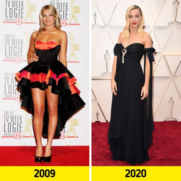"Margot Robbie ""Before and after"" photo comparisons"