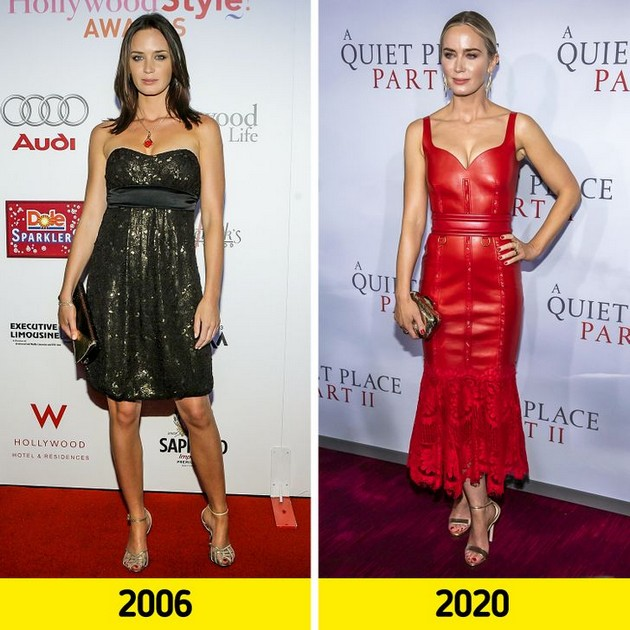 "Emily Blunt ""Before and after"" photo comparisons"