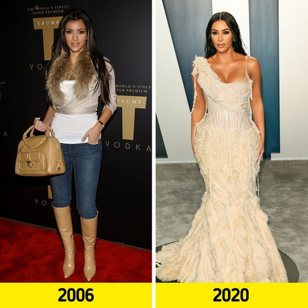 "Kim Kardashian ""Before and after"" photo comparisons"