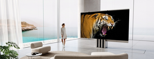 """Presented the first TV that can be """"packed"""" and hidden in the floor - costs $400 000"""