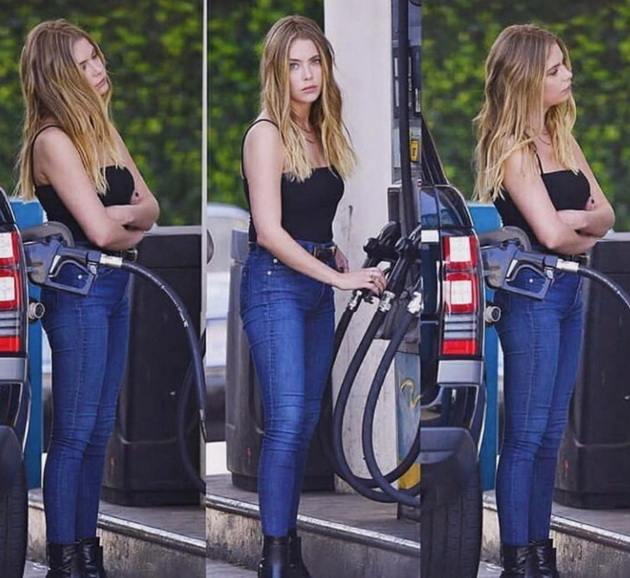 11 celebrities who have made millions but lead a normal life Ashley Benson refuels her car