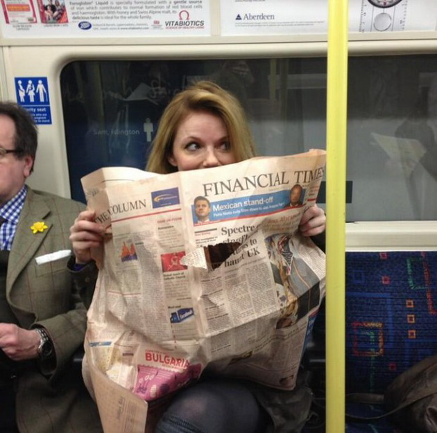 Geri Halliwell on public transportation 11 celebrities who have made millions but lead a normal life