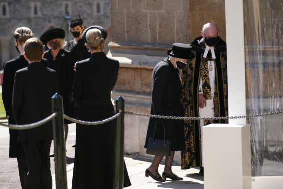Last goodbye: Buried Prince Philip Queen Elizabeth for a final greeting from her husband
