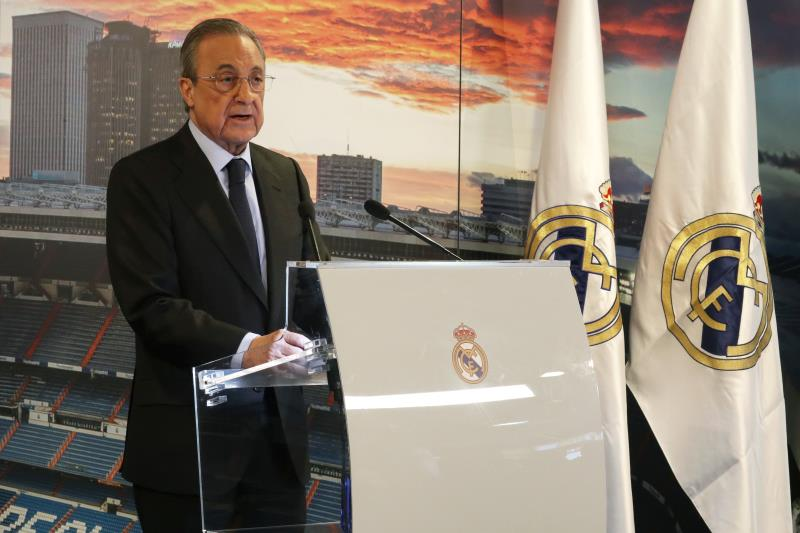 Florentino Perez is automatically re-elected president of Real Madrid