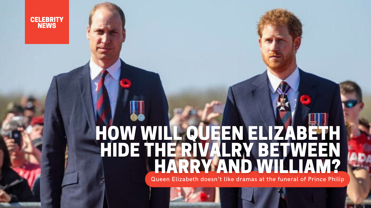 How will Queen Elizabeth hide the rivalry between Harry and William?