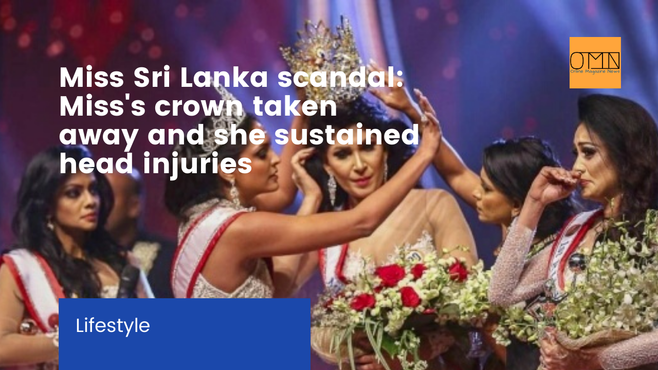 Miss Sri Lanka scandal: Miss's crown taken away and she sustained head injuries (VIDEO)