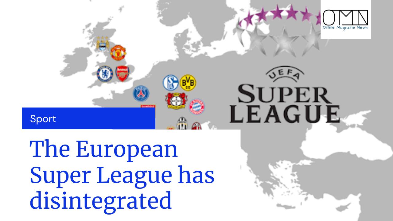 The European Super League has disintegrated