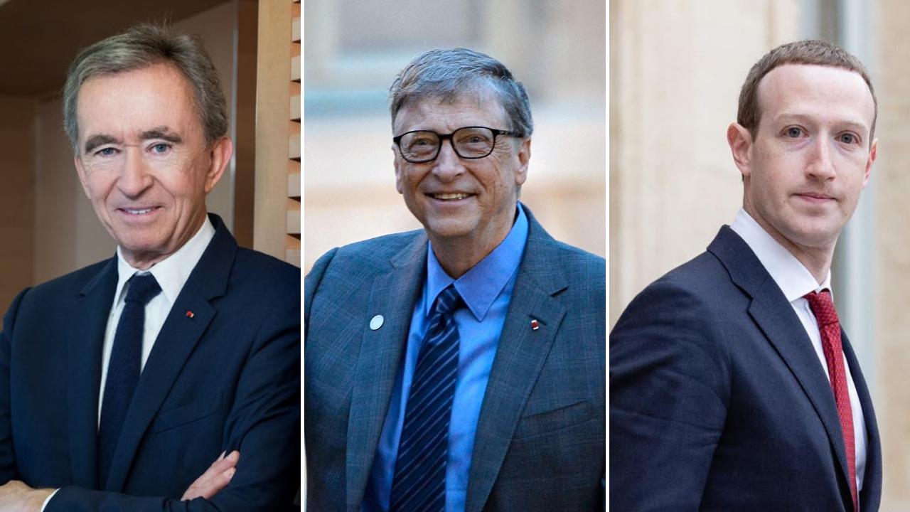 Bernard Arnault CEO of LVMH, Founder of Microsoft - Bill Gates and the owner of Facebook - Mark Zuckerberg
