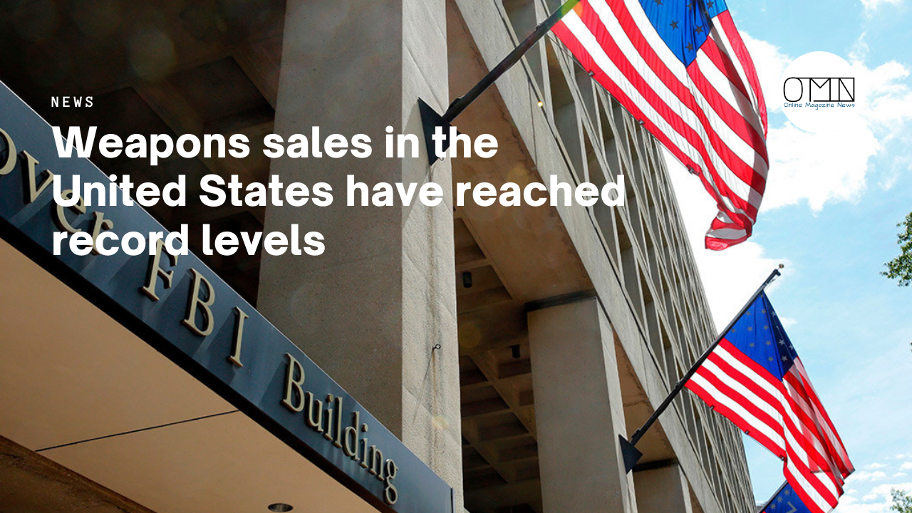 Weapons sales in the United States have reached record levels