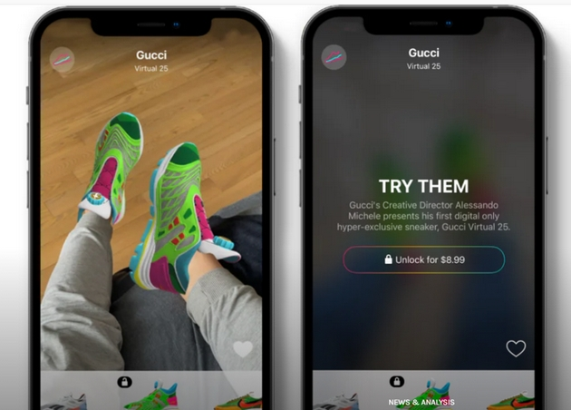 new Gucci virtual sneakers