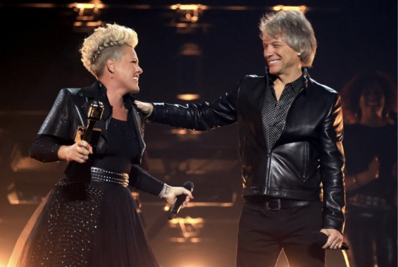 John Bon Jovi presented the Pink Icon Award.