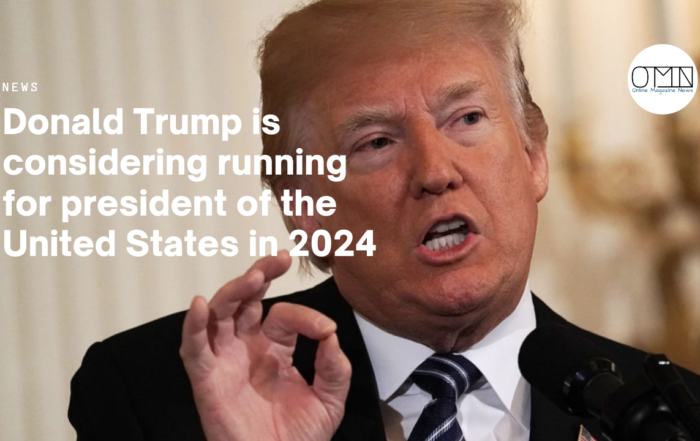 Donald Trump is considering running for president of the United States in 2024
