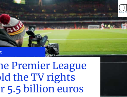 The Premier League sold the TV rights for 5.5 billion euros