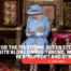 A sad sight: For the first time Queen Elizabeth sits alone on the throne, without her 'support and strength'