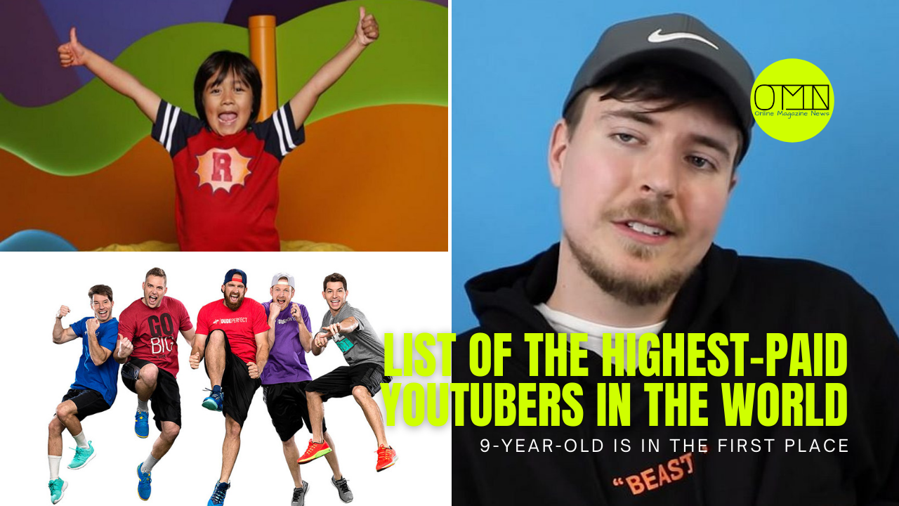 List of the highest-paid YouTubers in the world - 9-year-old is in the first place