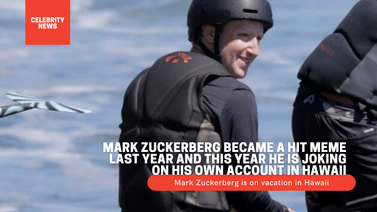 Mark Zuckerberg became a hit meme last year and this year he is joking on his own account in Hawaii