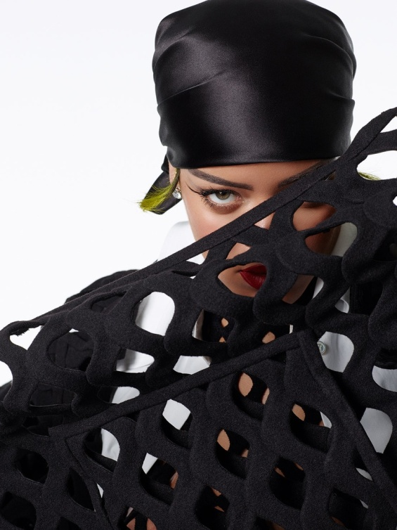 Brave diva: Rihanna in a new editorial for the Vogue Italia