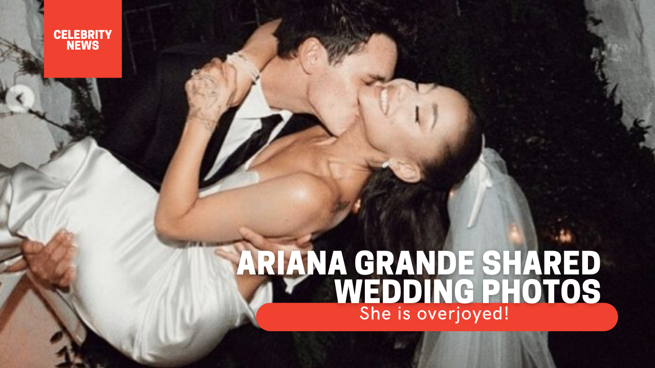 She is overjoyed! Ariana Grande shared wedding photos (photo)