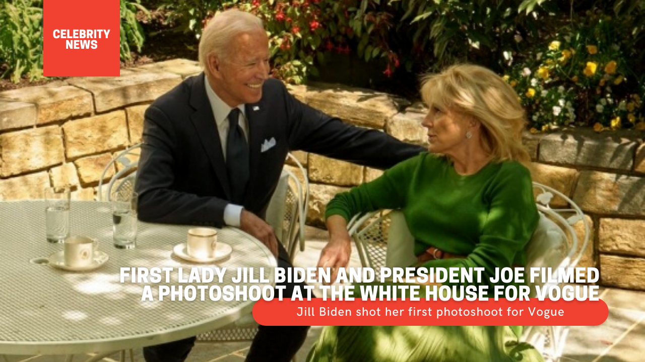 First Lady Jill Biden and President Joe filmed a photoshoot at the White House for Vogue