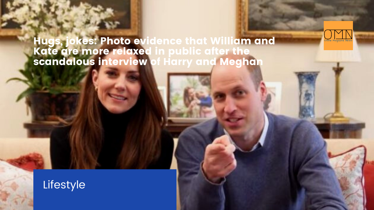 Hugs, jokes: Photo evidence that William and Kate are more relaxed in public after the scandalous interview of Harry and Meghan