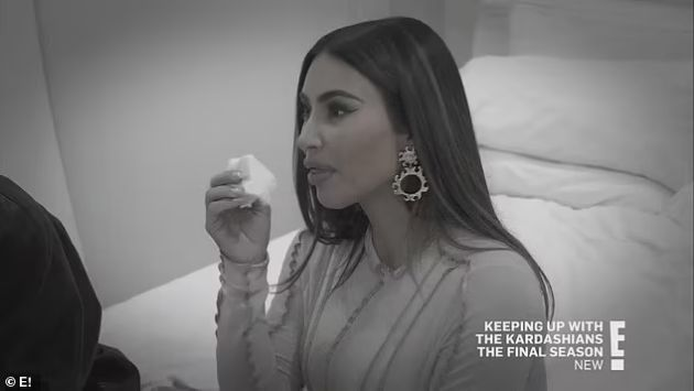 """Kim Kardashian reveals through tears that she feels like a loser because of her divorce from Kanye West: """"This is my third marriage!"""""""