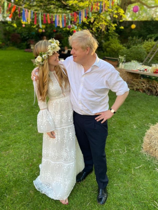 The British Prime Minister married his wife Kerry recently