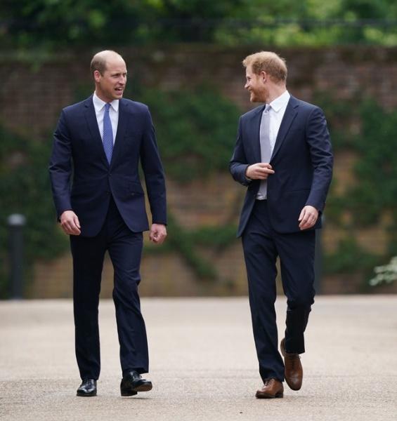 Princes William and Harry team up to unveil a new statue of Princess Diana