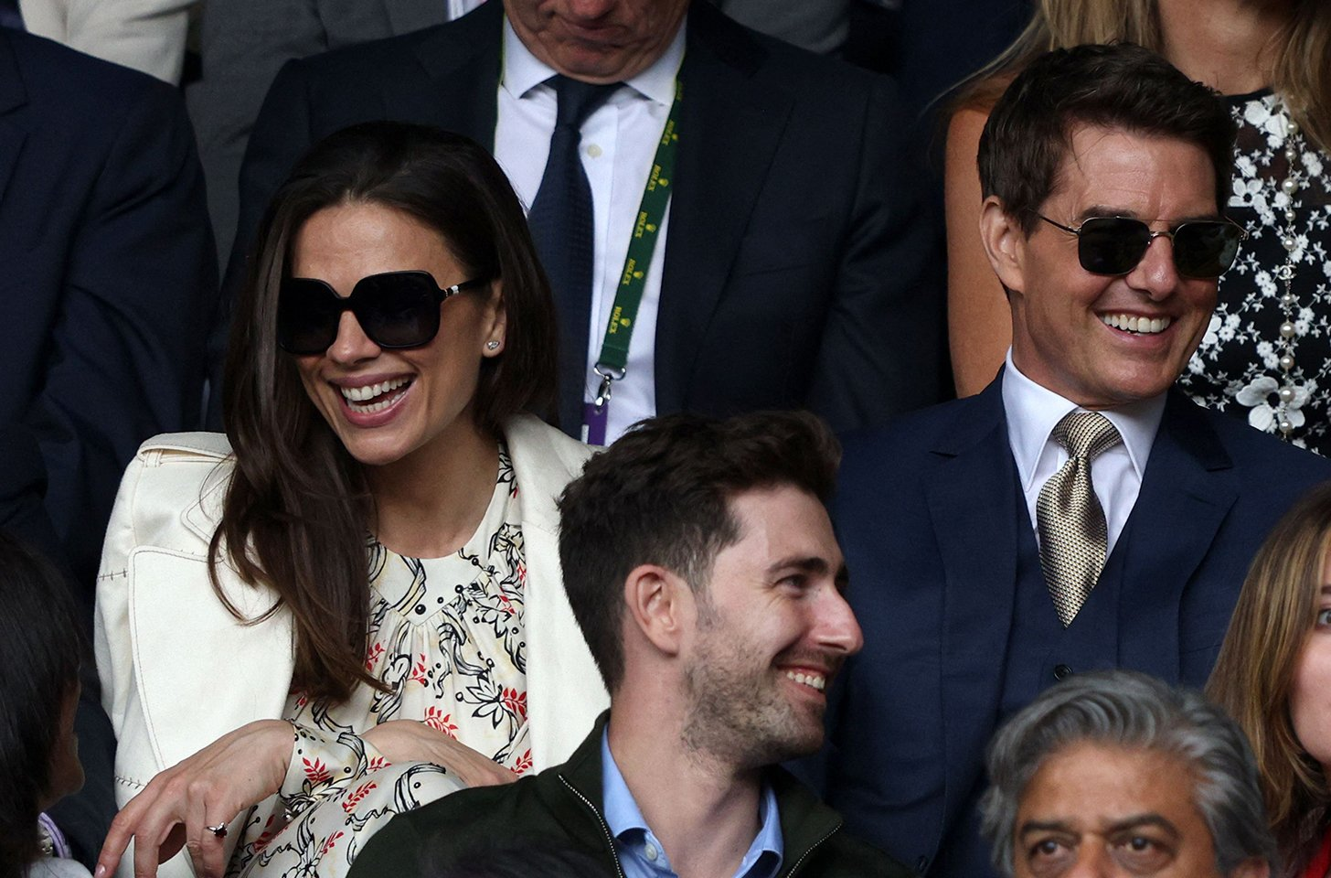 Tom Cruise and his girlfriend Hayley Atwell followed Wimbledon