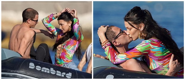 Bella and her new boyfriend Marc were passionately kissing in front of the paparazzi