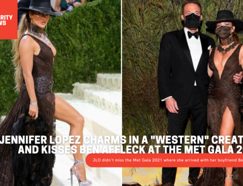 """Jennifer Lopez charms in a """"western"""" creation and kisses Ben Affleck at the Met Gala 2021"""