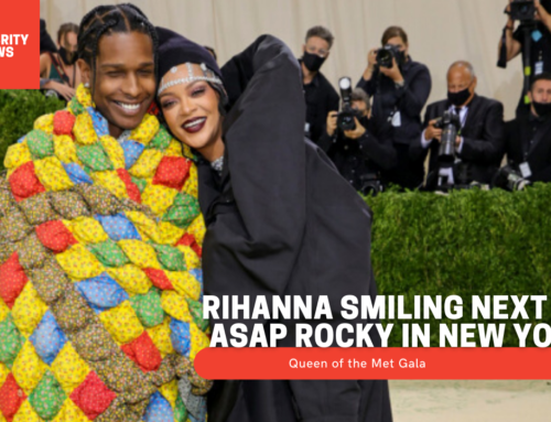 Queen of the Met Gala: Rihanna smiling next to ASAP Rocky in New York